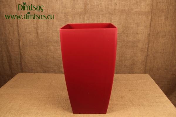 Πλαστική Γλάστρα Αφροδίτη Κόκκινη ή Dark Red Ματ