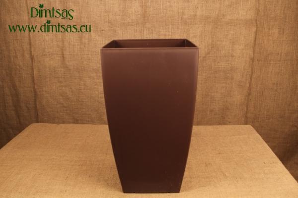 Πλαστική Γλάστρα Αφροδίτη Καφέ ή Brown Ματ