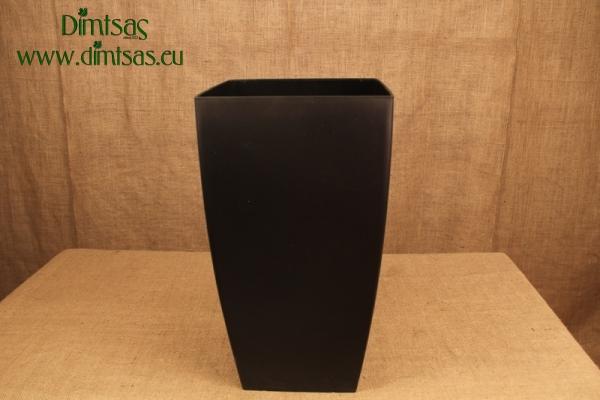 Πλαστική Γλάστρα Αφροδίτη Μαύρη ή Midnight Black Ματ