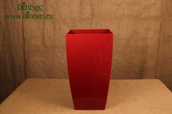 Πλαστική Γλάστρα Αφροδίτη Κόκκινη ή Dark Red Σατέν