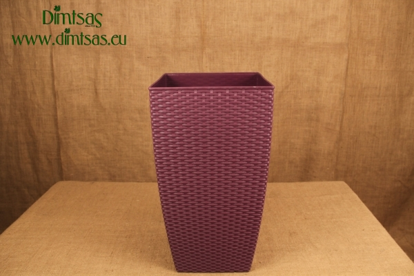 Πλαστική Γλάστρα Αφροδίτη Μωβ ή Royal Purple Πλεκτή