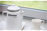 "Tea and Coffee Percolator ""Perkomax"" White Sixteenth Depiction"