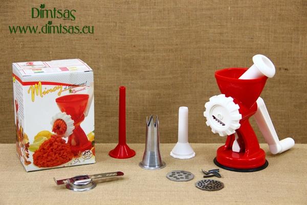 Πλαστική Μηχανή για Κουλουράκια, Κιμά & Ζυμαρικά Inox Σπέσιαλ