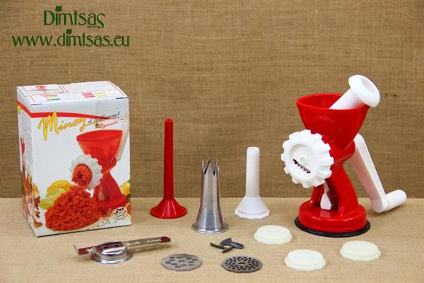 Πλαστική Μηχανή για Κουλουράκια, Κιμά & Ζυμαρικά Σπέσιαλ