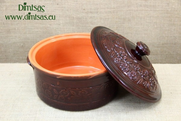 Clay Casserole 5.5 Liters Brown