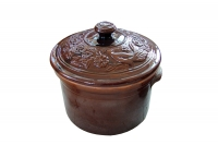 Clay Casserole 8 Liters Brown Seventeenth Depiction