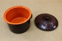 Clay Casserole 8 Liters Brown Fourth Depiction