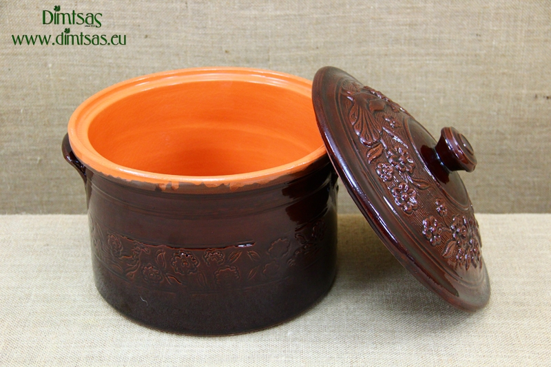 Clay Casserole 8 Liters Brown