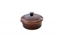 Clay Dutch Oven 4 Liters Brown Sixteenth Depiction