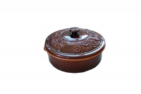 Clay Dutch Oven 6 Liters Brown Nineteenth Depiction