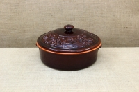 Clay Dutch Oven 6 Liters Brown Third Depiction
