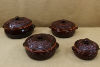 Clay Dutch Oven Curved 3 Liters Brown Thirteenth Depiction