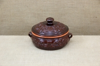 Clay Dutch Oven Curved 3 Liters Brown First Depiction