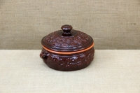 Clay Dutch Oven Curved 3 Liters Brown Second Depiction