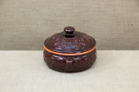 Clay Dutch Oven Curved 3 Liters Brown Third Depiction