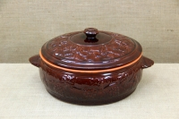 Clay Dutch Oven Curved 10 Liters Brown First Depiction