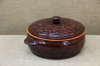 Clay Dutch Oven Curved 10 Liters Brown Second Depiction