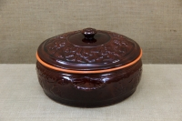 Clay Dutch Oven Curved 10 Liters Brown Third Depiction