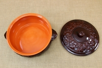Clay Dutch Oven Curved 10 Liters Brown Fourth Depiction