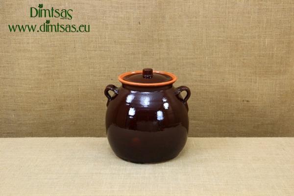 Πήλινο Τσουκάλι 8 Λίτρων Καφέ
