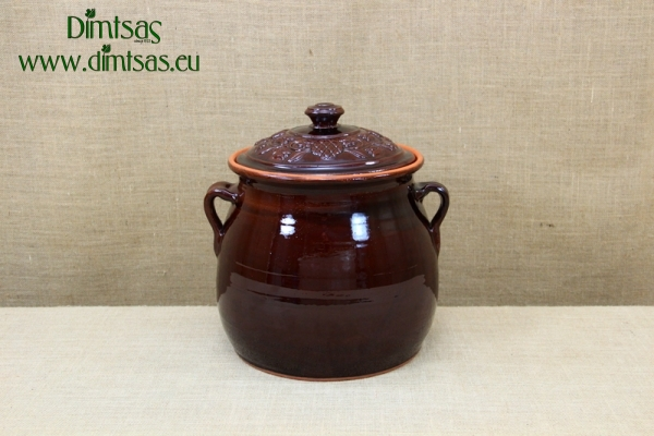 Clay Dutch Oven Handmade Curved 17 Liters Brown