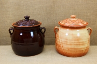 Clay Crock Pot Handmade 14 Liters Brown Seventh Depiction
