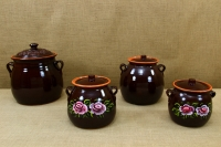 Clay Crock Pot Handmade 14 Liters Brown Eighth Depiction