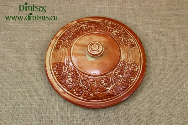 Clay Lid Round 14.8 cm Brown