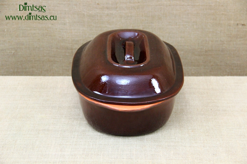Clay Dutch Oven Oval 5 Liters Brown