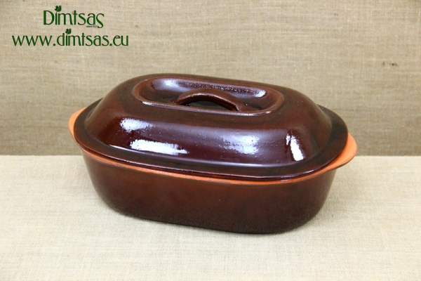 Clay Dutch Oven Oval 6 Liters Brown