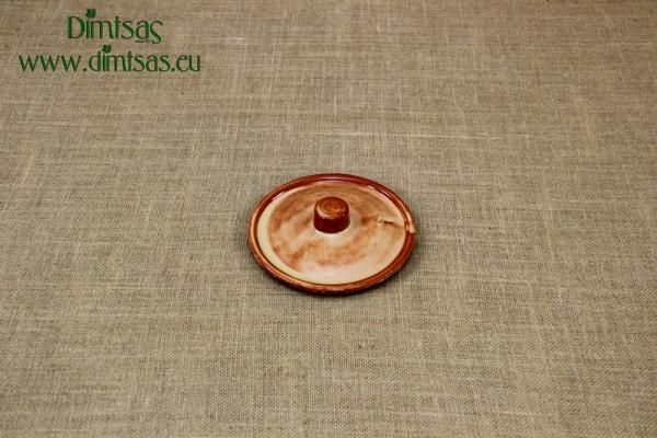 Πήλινo Καπάκι Στρόγγυλο 14.8 εκ. Καφέ
