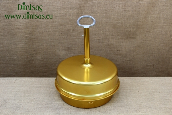 Aluminium Traditional Greek Coffee Tray No36 Gold with Lid