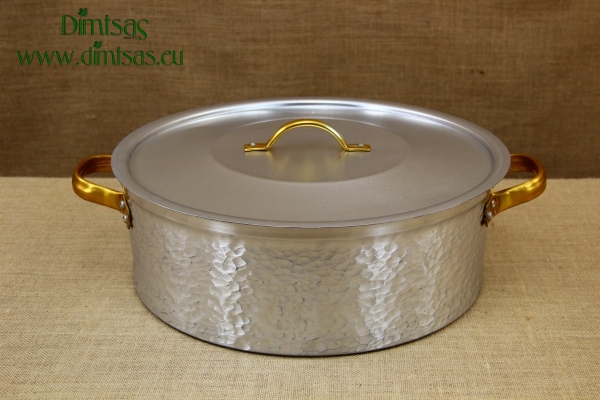 Aluminium Round Baking Pan Hammered No50 30 liters