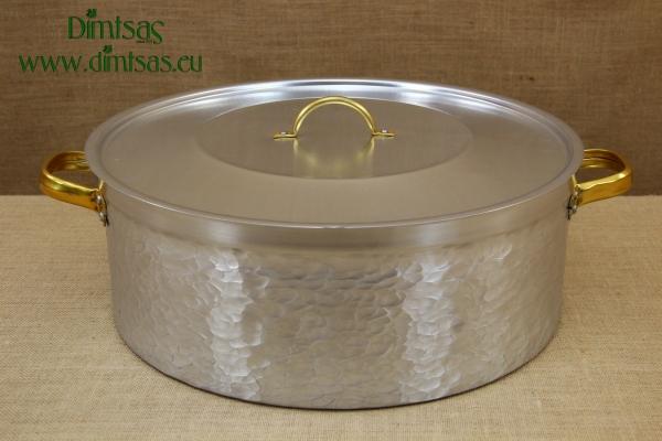 Aluminium Round Baking Pan Hammered No50 30 liters