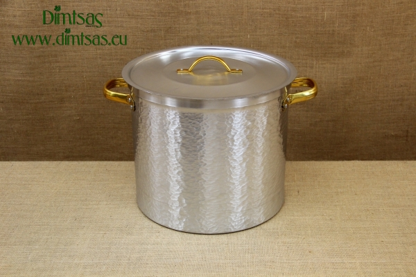Aluminium Marmite Hammered No34 25.5 liters