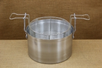 Aluminium Fryer Pot Professional No34 18 liters Third Depiction
