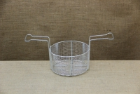 Aluminium Fryer Pot Professional No26 7 liters with Tinned Frying Basket Third Depiction