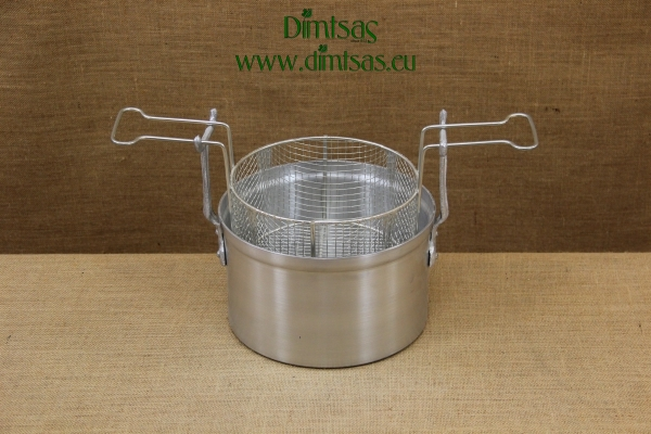 Aluminium Fryer Pot Professional No26 7 liters with Tinned Frying Basket
