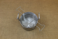 Aluminium Fryer Pot Professional No26 7 liters with Tinned Frying Basket Sixth Depiction