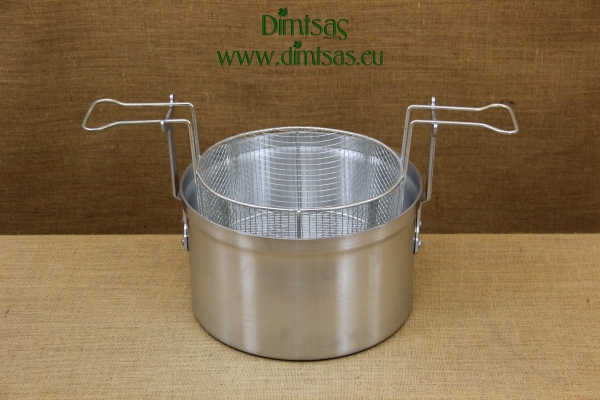 Aluminium Fryer Pot Professional No40 28 liters with Stainless Steel Frying Basket