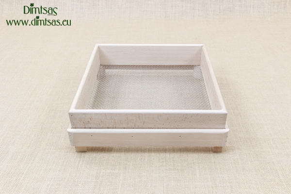 Sieve for Frumenty Wooden Square 34x34 cm with Holes 5x4 mm