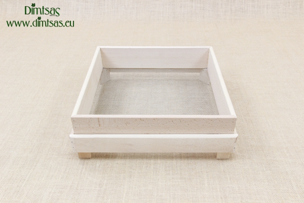 Sieve for Frumenty Wooden Square 34x34 cm with Holes 3x3 mm