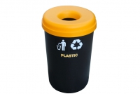 Recycle Bin Plastic with Yellow Lid 60 liters Twelfth Depiction