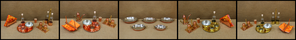 Copper & Brass Serving Set for Ouzo